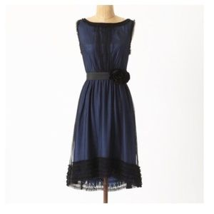 Anthro, Moulinette Soeurs Still Nite Blue Dress